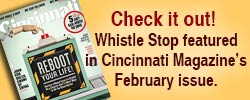 "Check it out! Whistle Stop featured in Cincinatti Magzine's ""Reboot Your Life"""